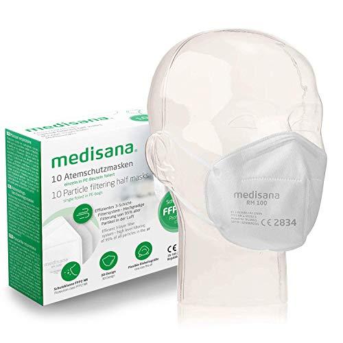 Medisana RM 100 FFP2/KN 95 Atemschutzmaske Staubmaske Atemmaske 3-lagige Staubschutzmaske Mundschutzmaske 10 Stück einzelverpackt im PE-Beutel - 8