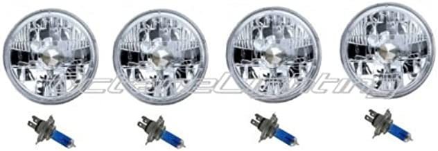 5-3//4 Crystal Clear Halogen Headlight Headlamp 60w Light Bulbs Relay Harness Kit
