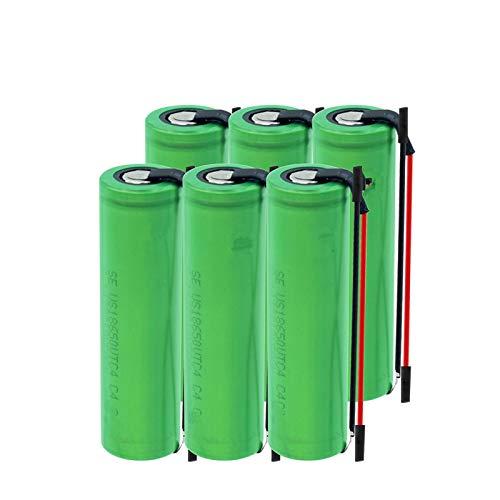 NHFGJ 6/8/10 Uds Batería De Iones De Litio Recargable De Alto Drenaje 30a 3,6 v Batería De Litio Genuina Us18650vtc4 18650 3,6 v 2100 Mah para Vape 6pcs