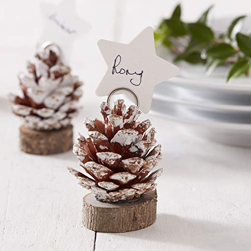 Ginger Ray Christmas Decorative Pinecone Tischkarten, 6 Stück