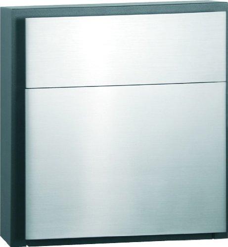 Serafini Briefkasten Line One - Edelstahl V4A 40 x 40 x 10,2 cm