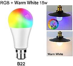 مصابيح وأنابيب LED - مصباح إضاءة ذكي واي فاي 15 وات عاكس للضوء يتغير اللون مصباح LED RGB يعمل مع/ المنزل RGB+White مؤقت لم...