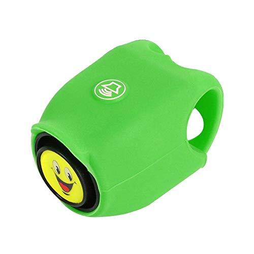 todaytop Smiley-Fahrradglocke für Kinder, Fahrradklingel mit weicher Silikonschale und klarem Klang, 120 dB 5 Klangmodelle mit Knopfzellen-Lenkerglocken