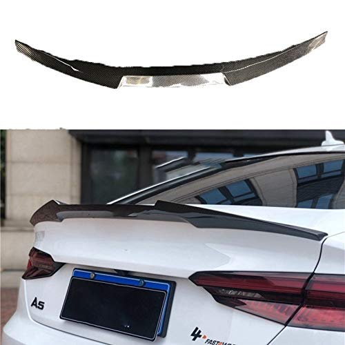 NYSCJJJ Car Styling for For Audi A5 S5 Sportback RS5 2017 a 2020 Fibra de Carbono del Tronco Posterior Arranque del Labio Spoiler de Techo del ala (Color : 4door)