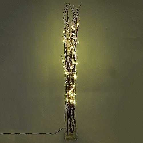 Dapo Dekoleuchte Dekozweige Lichterzweige 50 LED 0,06W Stimmungsleuchte 5 Ratanzweige Weidenzweige 100cm