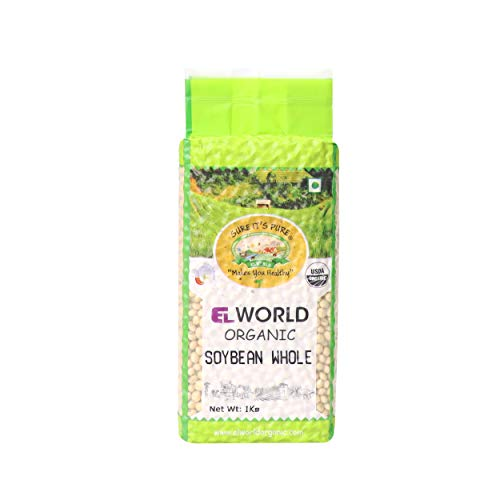 Elworld Agro & Organic Food Products Soyabean Whole 1Kg (Pack of 2)