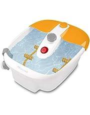 medisana FS 883 Voetbruisbad met voetreflexzonemassage - elektrisch voetbad, warmtefunctie, trilmassage, pedicure-opzetstukken, voetenbad met massage en verwarming, voor grote voeten