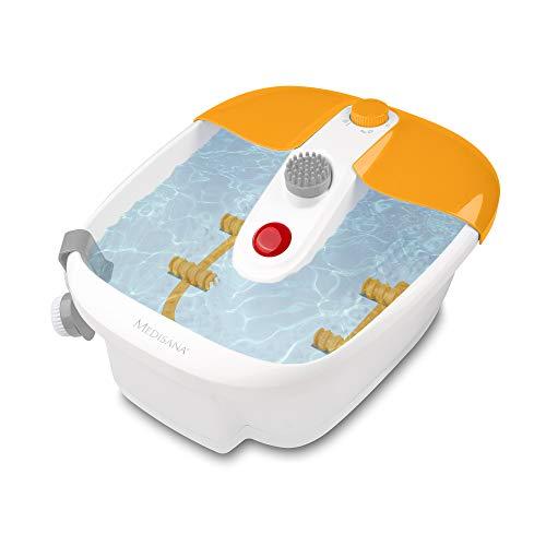 medisana FS 883 Fußsprudelbad mit Fußreflexzonenmassage - elektrisches Fußbad, Wärmefunktion, Vibrationsmassage, Pediküre-Aufsätzen, Fußbad mit Massage und Heizung, für große Füße