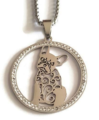 Marni's - Collar Mujer Bulldog Frances - Regalos Originales para Mujer -...