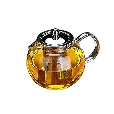 Glass Teapot with Removable Infuser, OBOR Stovetop Safe Kettle, Blooming and Loose Leaf Tea Maker Set, (950ml/33oz)