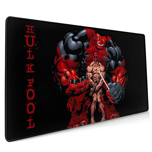 Dead Pool Hu-lk Gaming Mouse Pad Large Custom Mousepad Pads for Laptop Computer,Desk Cover Computers Keyboard Stitched Edges Office Ideal Mouse Mat 30x80cm