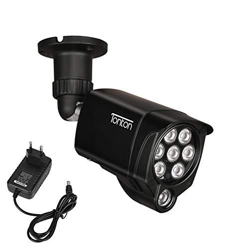 Tonton 8 LED Infrarot-Nachtsicht IR-Licht Beleuchtungslampe Infrarotstrahler 30M (100ft) für Überwachungskamera wasserdichte Zusatzlicht Videoüberwachung mit 3M DC Netzteil für Innen-und Außenbereich