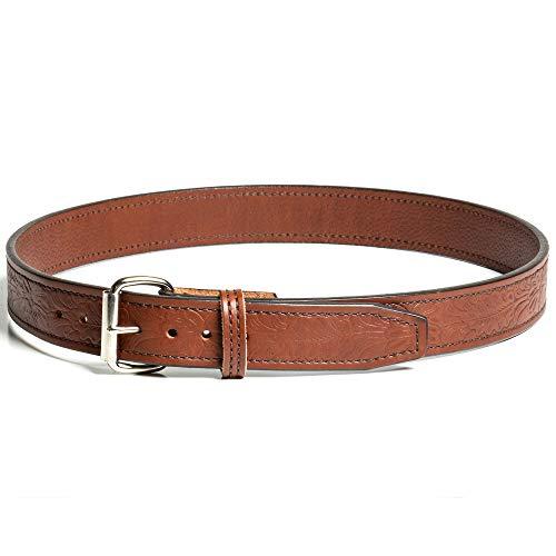 Gun Belt - Floral Pattern - 18oz Steel Core - 38 Inch -...