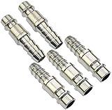 AERZETIX - Juego de 5 Puntas/racores 1/4'' ø10mm macho neumático rápido para manguera de aire comprimido - conector/adaptador para compresor - C47791