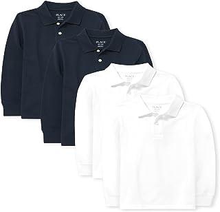 The Children's Place boys Boys Uniform Long Sleeve Pique Polo 4-Pack Polo Shirt