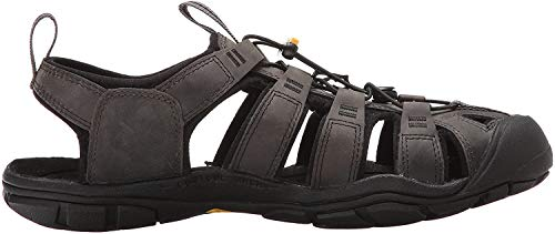 Keen Herren Clearwater Cnx Leather Sandalen,Grau (Magnet/Black), 44 EU