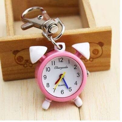 Pocket & Fob Watches - Chaoyada Alloy Alarm Clock Key Chain Quartz Pocket Watch With Iron Chains And Lobster Claw Clasps - Watch Clock Crayfish Watch Chain Fob Crayfish Chain Gold Keychain Wris