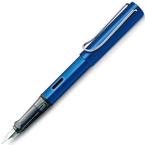LAMY AL-star Füllhalter 028 – Füller aus Aluminium in der Farbe Ozean-Blau mit transparentem Griffstück und Stahlfeder – Federstärke M