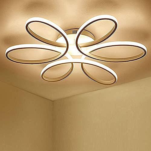 Zqq87 moderni lampadari Plafoniera LED soffitto 85W Creativo Forma di fiore Lampada da Acrilico Paralume in alluminio Moderno Elegante Bianco opaco Lampada a 59cm Bianco Cal
