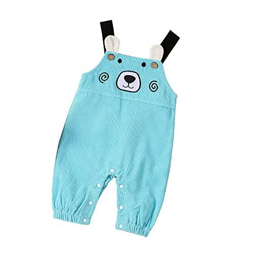Eghunooze Mono de una pieza para bebés y niñas, de 0 a 12 m, azul, 9 mes