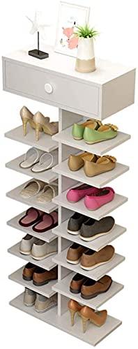 N/Z Inicio Equipo Zapateros de 5 Niveles Estante de Almacenamiento de Zapatos de Madera Maciza con cajones Organizador de Zapatos Sujeción Taburete para Cambiar Zapatos de pie (Color: A)
