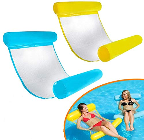 Comfortable Swimming Pool Air Bed,Beach Mat,Spring Float,Water Hammock,Floating Chair,Water Sofa,Water Floating Bed /& Inflatable Swimming Pool Lounger for Adult Summer O QEPOL Inflatable Floating Bed