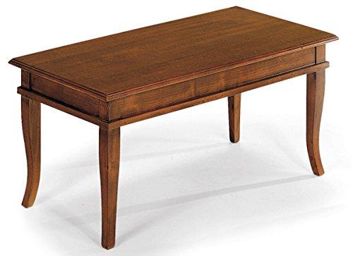 Bagno Italia Mobile arredo tavolino da salotto100x50x45 in Legno Noce Lucido Piano Ribaltabile
