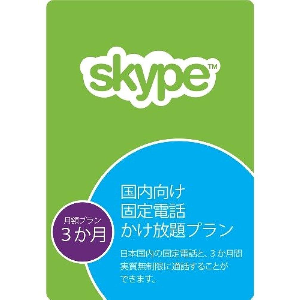 セメントロードされた糞Skype 国内向け 固定電話 かけ放題プラン (3か月使い切り) |オンラインコード版