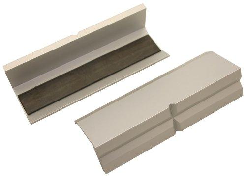 GSR Schraubstock-Schonbacken, 2-teilig, Schraubstock Backen, Aluminium mit Magnet Spann-Backen, Schutzbacken für Maschinenschraubstock, (100mm)