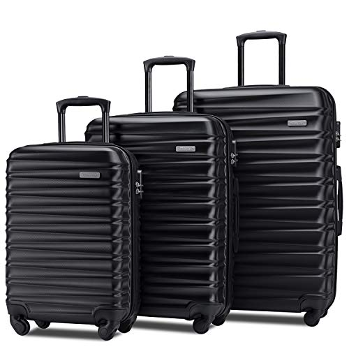 Merax Afuture Luggage Set Hardside Lightweight Spinner...