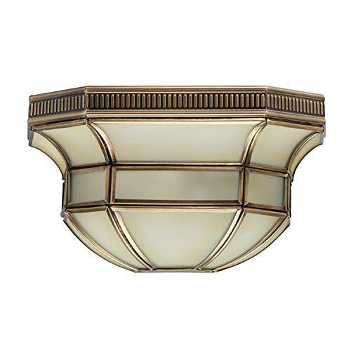 Chiaro 397020301 Klassische Wandleuchte Messingfarbiges Metall Mattes Glas Tiffany Landhausstil 1 Flammig E27 1 x 40W 230V