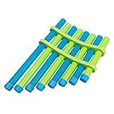 DIY Flauto Pan Kit Montaggio Giocattolo Musicale Assemblato Componenti Strumenti Artistici Kit Educativo Gli Studenti Cantano la Canzone Puzzle Playset per Bambini Piccoli