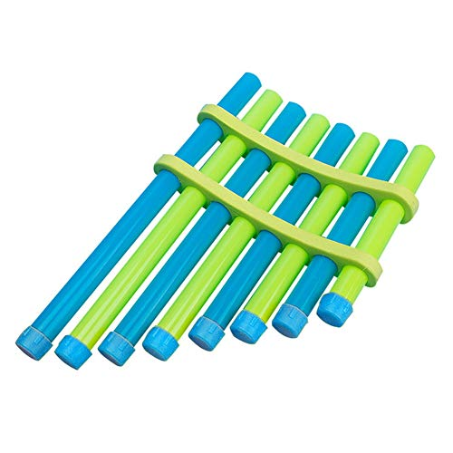 Asamblea Pan Flauta, bricolaje Música ensamblada Componentes de juguete Instrumentos artísticos Kit educativo Los estudiantes cantan Song Puzzle Playset para niños
