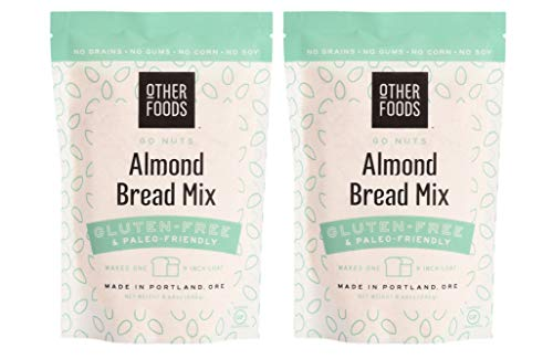 Other Foods Low Carb Almond Flour Bread Mix, Gluten-free Paleo Friendly Baking Mix - Easy to Bake - 100% Grain Free, Dairy Free, Corn Free, No Refined Sugar or Soy (Almond, Pack of 2)