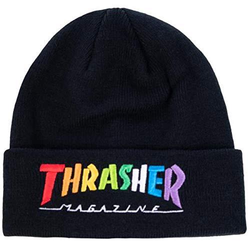Thrasher Unisex Rainbow Mag Baskenmütze, Black (Negro), Talla Única
