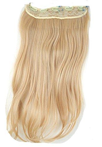 JM-Fashion-Supply XXL 50-55 5Clips in Extention Haarverlängerung Haarteil hitzebeständig wie Echthaar div. Farben (mittelblond 15(20)#)