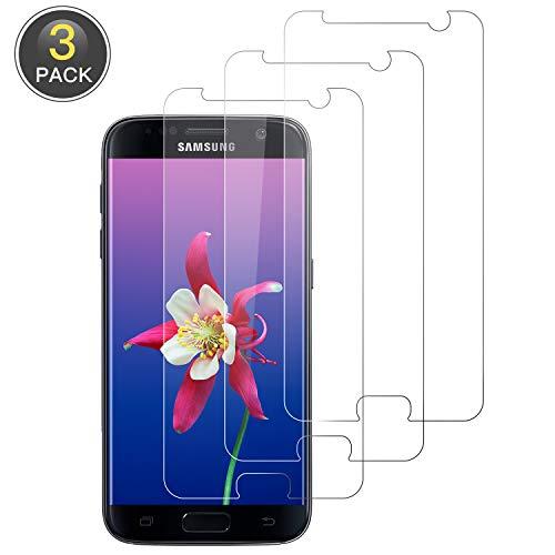 Wiestoung Panzerglas Schutzfolie für Samsung Galaxy S7 [3 Stück] 9H gehärtetes Glas mit Anti-Kratzer Bläschenfrei Ultra Transparent Full HD Panzerglasfolie Displayschutzfolie für Samsung S7