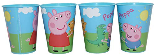 Juego de 4 vasos de Peppa Pig