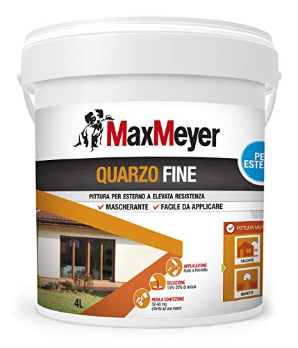 MaxMeyer Pittura per esterni Quarzo Fine BIANCO 4 L