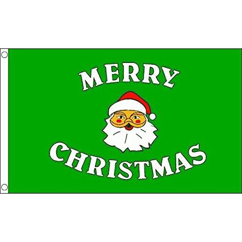 AZ FLAG Drapeau Joyeux Noël Vert 90x60cm - Drapeau Merry Christmas 60 x 90 cm - Drapeaux