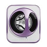 QFFL Mini Lavadora, Lavadora Automática de Pared, Secadora, Motor de Poco Ruido, 15 Minutos de Lavado Rápido, para Vehículos Recreativos, Dormitorio