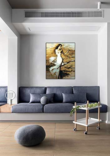 DIY Schilderen op nummerkinderen schilderen kitZwaan danseres handgeschilderd frameloos schilderij 40x50cm
