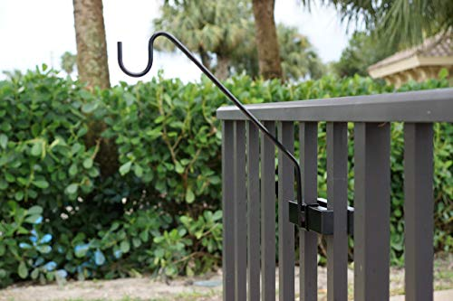 Railing Hanging Hook Kit - Hang Flower Baskets - Bird Feeders - Chimes - Wreaths - Lanterns on Any Vertical Balcony/Deck Spindles/Balusters