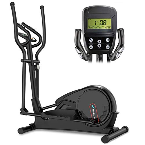HECHEN Home Elliptical Bike Cross Trainer Magnetic Cardio Workout with 16-level Magnetic Resistance 9KG Two Way Flywheel, Console Display with Heart Rate Sensor