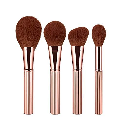 PoplarSun 4 pièce Blush Set Brosse de Maquillage mélange surligneur Contour Visage Brosse de Maquillage Capote