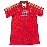 MFFZHJ 1995/96 Jersey de fútbol Retro Adecuado para Roma Legendary Star Emperor VIII Falco Giannini Totti Soccer Jersey, Camiseta de Traje de Ropa Deportiva de fútbol XXL