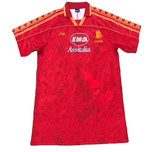MFFZHJ 1995/96 Jersey di Calcio retrò Adatto per Roma Legendary Star Emperor VIII Falco Giannini Totti Jersey di Calcio, T-Shirt da Calcio Sportswear T-Shirt S