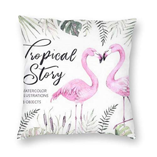 Buy Discount Others Chicago Nets Red Flamingo Wall Square Pillow Multicode Soft and Comfortable 20x...