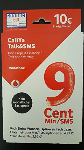 Vodafone CallYa Talk & SMS Prepaid Karte 9 Cent in alle Netze 10 Euro Startguthaben