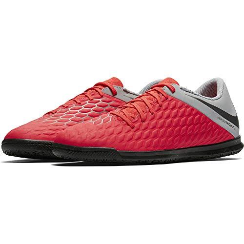 Nike Unisex H-Fußballschuh HypervernomX III Club IC Fitnessschuhe, Mehrfarbig (Lt Crimson/MTLC Dark Grey/Wolf Grey 600), 40.5 EU